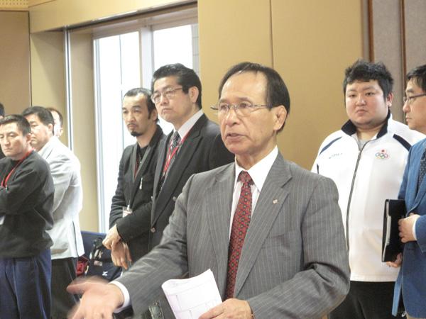 日本格闘競技連盟強化合宿での福田会長