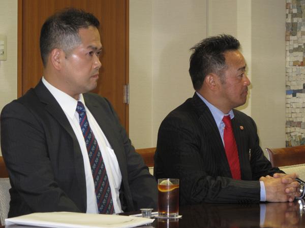 JFKO発起人の緑健児代表と 渡辺正彦代表